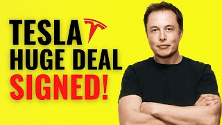 TESLA SIGNS HUGE CONTRACT!! This Will Be MASSIVE || Buy NOW? TESLA STOCK PRICE PREDICTION