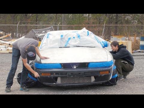 Nissan 240sx $100 Paint Job- How to Spray Paint a Car Properly
