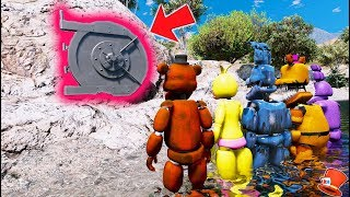 GUESS WHAT'S IN THE SECRET FNAF WORLD DOOR! (GTA 5 Mods FNAF RedHatter)
