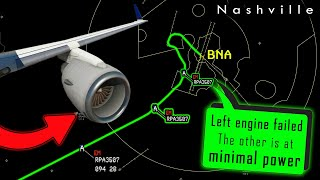[REAL ATC] Brickyard E170 BOTH ENGINES FAILED enroute | Diverts to Nashville!
