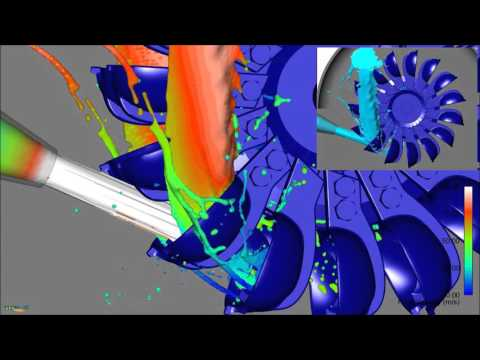 Advanced Visualization of Pelton Turbine Simulation