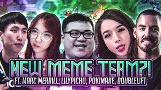 Scarra - NEW MEME TEAM?! (ft. Marc Merrill, LilyPichu, Pokimane, Doublelift)