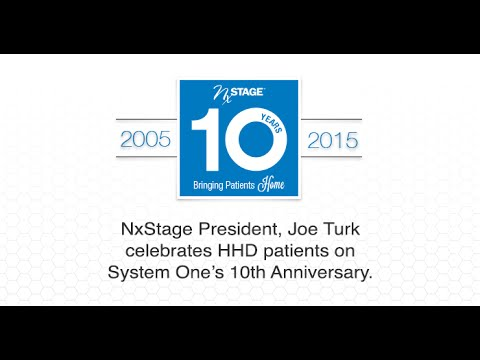 NxStage President, Joe Turk celebrates HHD patients on System One's 10th Anniversary.