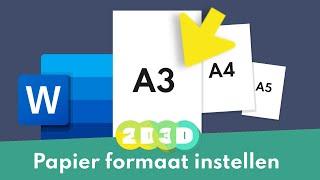 Wees de baas over je papier formaat. Niet A5 A4 A3 of helemaal anders, zo fix je dat in Word.