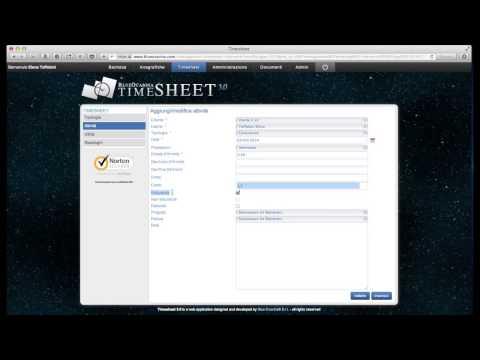 Timesheet 3.0 video tutorial: aggiungere una nuova attività