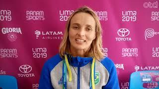 Lena Ribeiro, campeã do Stand Up Paddle Race em Lima 2019