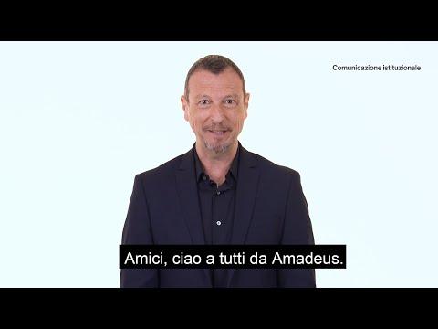 """""""Aiutiamoci l'un con l'altro"""", il video di Amadeus con i consigli per ridurre il rischio Coronavirus"""