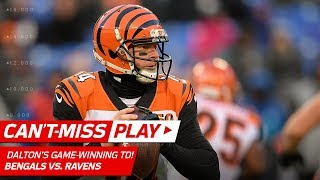 Andy Dalton Hits Tyler Boyd for the Game-Winning TD! | Can't-Miss Play | NFL Wk 17 Highlights