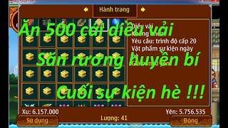 Ninja School Online | Ăn 500 diều vải cuối sự kiện săn rương huyền bí .