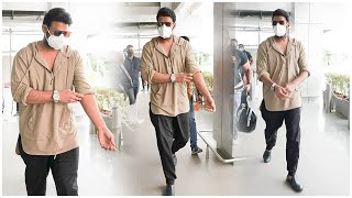 Baahubali actor Prabhas spotted at Hyderabad airport..