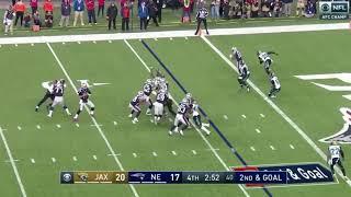 Danny Amendola's Game-Winning Touchdown   Jaguars vs Patriots AFC Championship Game