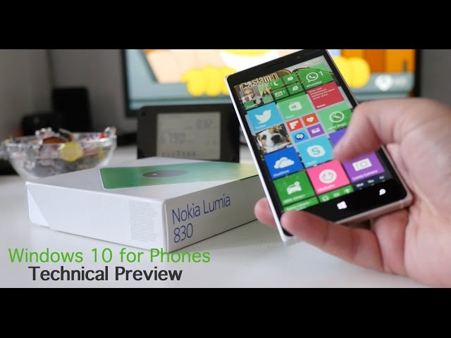 Windows 10 for Phones Technical Preview