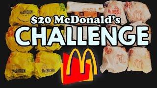 MCDONALD'S $20 VALUE MENU CHALLENGE!!