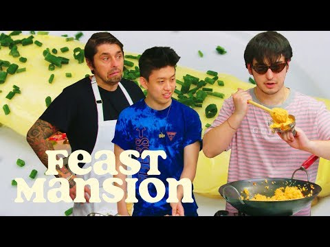 Joji and Rich Brian Get an Omelette Master Class from a French Chef | Feast Mansion