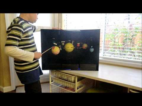 2nd grade solar system shoebox