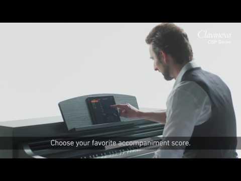 Yamaha Clavinova CSP170 Digital Piano Satin Black Package
