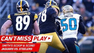 Telvin Smith's Speedy Scoop & Score vs. Pittsburgh! | Can't-Miss Play | NFL Divisional Round HLs