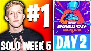 🔴LIVE: FORTNITE WORLD CUP FINALS - WEEK 5 DAY 2 (SOLOS)