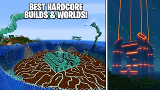 5 BEST Hardcore Minecraft Worlds & Builds! (BEST Mega Bases)