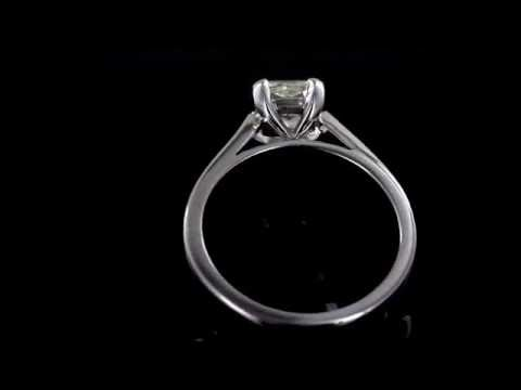 Browns Family Jewellers Radiant Cut Diamond Solitaire Ring