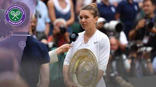 Simona Halep Wimbledon 2019 Winner's Speech
