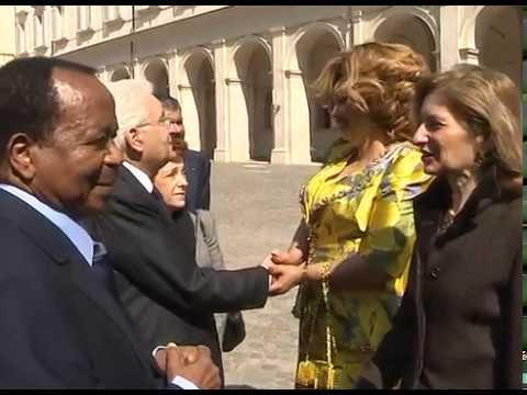 Cérémonie d'au revoir au Chef de l'Etat et Mme Chantal BIYA