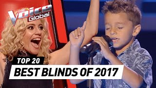 BEST BLIND AUDITIONS OF 2017   The Voice Kids Rewind