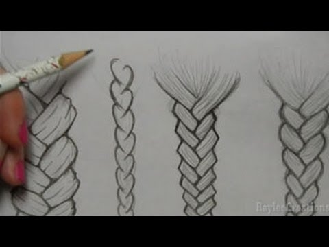 How to Draw Hair: Braids - YouTube