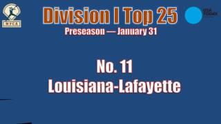 2017 USA Today Sports/NFCA Division I Preseason Top 25 — Jan. 31