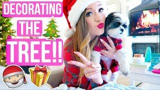 DECORATING FOR CHRISTMAS!! VLOGMAS DAY 1! Alisha Marie