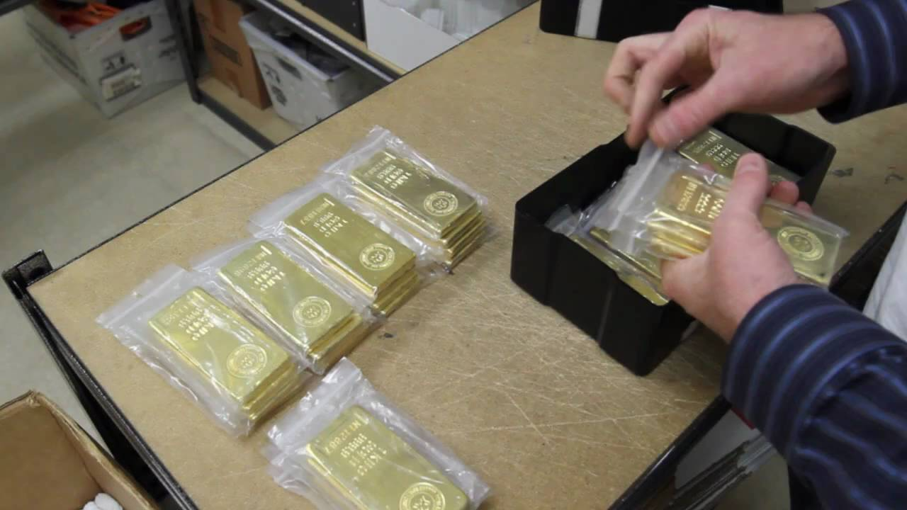 Gold Bars Royal Canadian Mint 9999 Gold Bullion Youtube