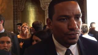 'Detroit' star Laz Alonso talks role as Rep. John Conyers, Jr. at Fox Theater premiere