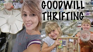 I DRAGGED My Family to Goodwill. We filled Our Cart. | Thrift with Us | Reselling