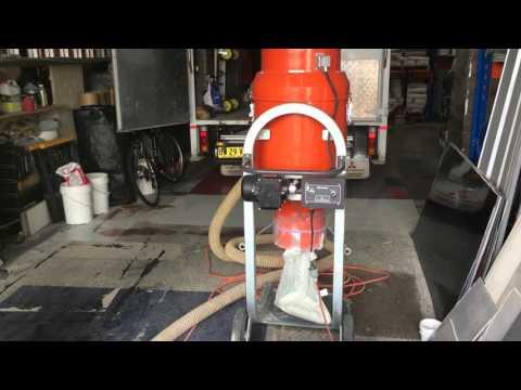 18kva Generator powering a floor grinder