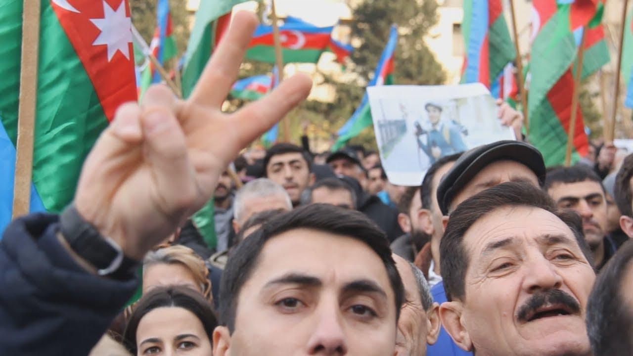 Баку: митинг в поддержку голодающих оппозиционеров