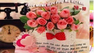 Thiếp chúc mừng ngày Phụ nữ Việt Nam 20/10 đẹp và ý nghĩa nhất