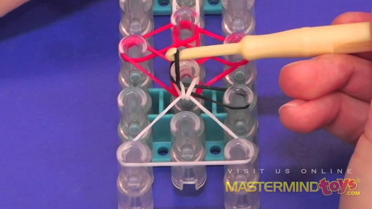 How To Make The Rainbow Loom Tulip Tower Bracelet Youtube