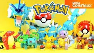 Pokémon Eevee Ivysaur Wartortle Pikachu Charmeleon & Gyarados Buildable Figure Mega Construx