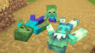 Monster School : R.I.P Zombie Family and R.I.P Herobrine - Sad Story Minecraft Animation