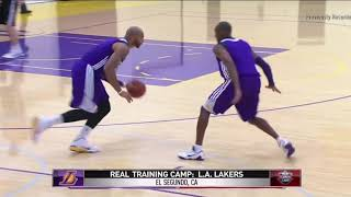 36-Year-Old Kobe Bryant Guarding The Whole Lakers Team During Defensive Drill
