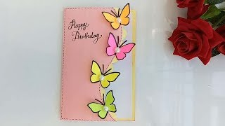 Handmade Butterfly Birthday card/ Pop up card