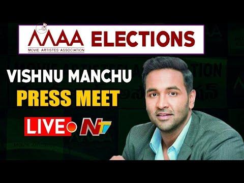 Live: Live: Manchu Vishnu and his panel members speaking to media