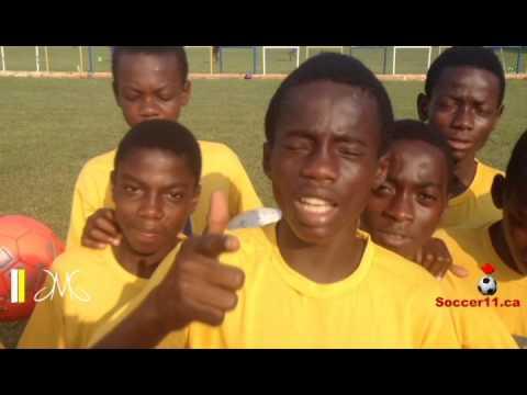 Message de Bienvenue des Academiciens JMG du Ghana au projet de Soccer11.ca