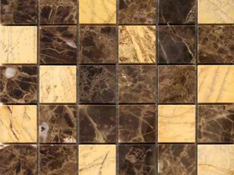 Marmol. Mosaicos y cenefas en piedra natural.