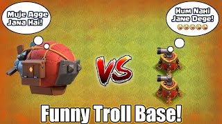 Battle Blimp VS Air Swipers | Insane Funny Troll Base | Who Will Win This Fight?