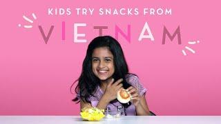 Kids Try Snacks from Vietnam | Kids Try | HiHo Kids