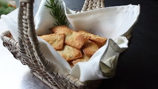 Fancy Crackers - How to Make Flatbread-Style Crackers - Rosemary Sea Salt Cracker Recipe