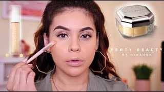 NEW FENTY BEAUTY PRO FILTER CONCEALER + SETTING POWDER: FIRST IMPRESSION & WEAR TEST! | JuicyJas