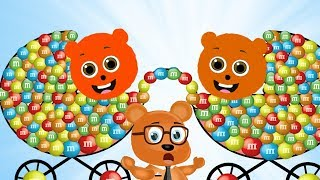 Gummy Bear Mixed Up Their Baby Strollers Finger Family for Children