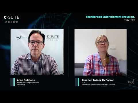 Jennifer Twiner McCarron, CEO, Thunderbird Entertainment.  Filmed on April 30, 2020
